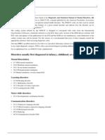 DSM IV Codes