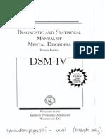 The DSM IV Introduction