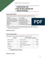 EJERCICIOS ANÁLISIS DE BALANCES-Selectividad
