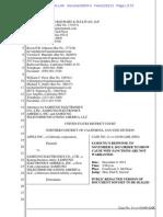 13-12-02 Samsung's Response to Order to Show Cause Regarding Sanctions