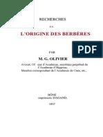 Origine_ Berberes Par Olivier de 1867