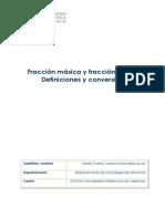 10. Artículo docente. Fracción másica y fracción molar. Definiciones y conversión