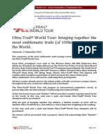 Ultra Trail World Tour Press Conference Chamonix  1 September