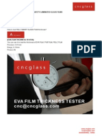 Eva Film Thickness Tester-safety Laminated Glass Films