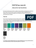 PANTONEVIEW Home Interiors 2014 Color Palettes
