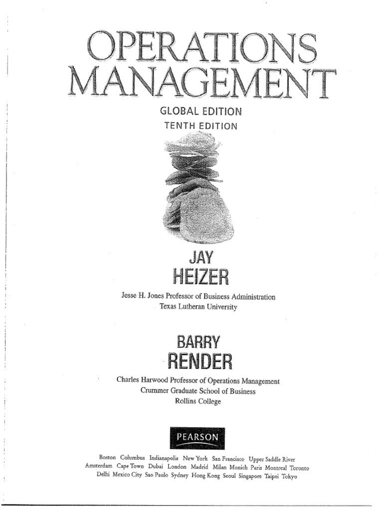 Operations Management Heizer