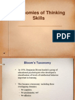 Blooms Objectives