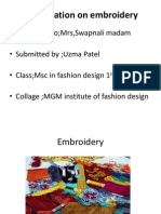 Embroidery Presentation