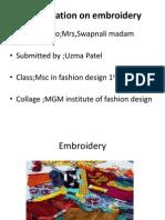 Embroidery Presentation