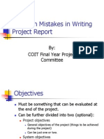Common Mistakes in Writing Report