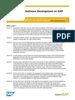 OpenSAP HANA1-1 Week 5 Transcripts