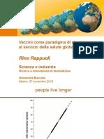 Vaccini come paradigma di ricerca al servizio della salute globale