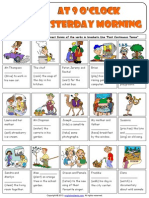 Past Continuous Tense Picture Exercises Worksheet