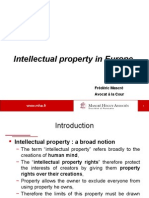 Intellectual property in Europe – Frederic Mascre - 12.12.2011