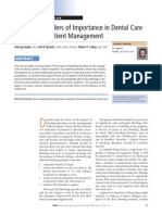 Bleeding Disorders of Importance in Dental Care and Related Patient Management