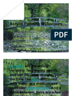 Acrylic Painting Techniques