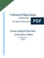 FCRB Formulacao e Avaliacao de Politicas Publicas Conceitos Tecnicas e Indicadores