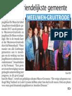 HBVL 3/12/2013 - Meeuwen-Gruitrode Jeugdhuisvriendelijkste Gemeente 2013