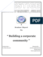 Building a Corporate Community