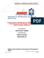 project report on Deterjent by arvind yadav
