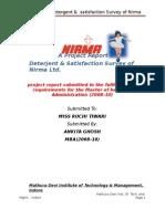 project report on Deterjent by arvind yadav
