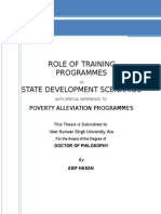 Role of Training Programs in the State Development Scenarios