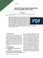 Characterization of Dark Green Passivation