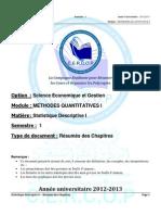 s1 Mqi Statistiquedescriptivei Rsumsdeschapitres 120912155511 Phpapp02 (1)