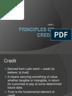 Principles of Credit