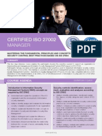 Certified ISO 27002 Manager - Four Page Brochure