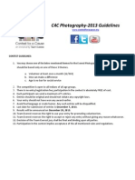 C4C2013 Photography Guidelines