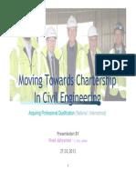 Moving Towards Charteredship