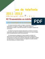 Prácticas de telefonía 2011