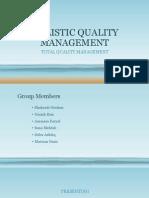 Total Quality Management Presentation