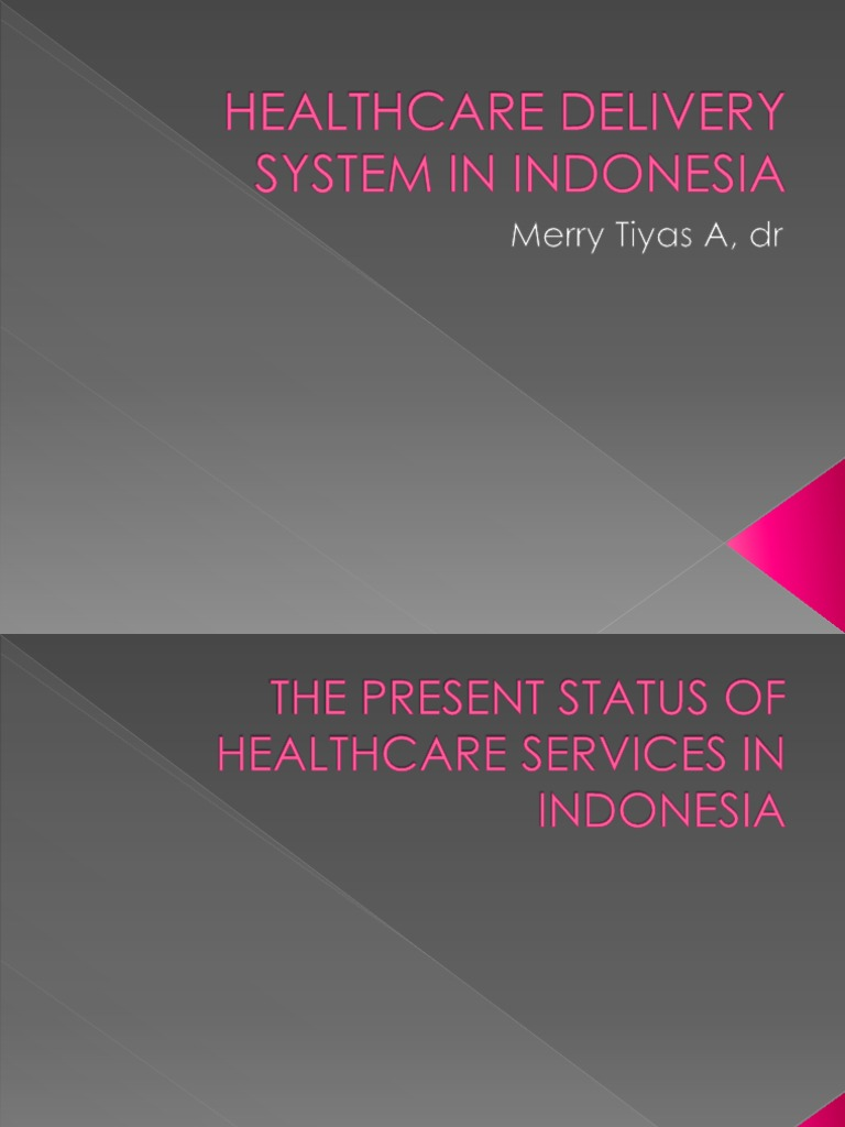 Healthcare Delivery System in Indonesia | Health Care ...