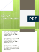 música simple present