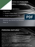 DEFINICIÓN DE PERSONA NATURAL Y JURIDICA
