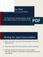 writing for the web- rhetorical principles for a diverse medium