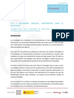 TIC y relaciones sociales. Argumentos para el optimismo  Cristóbal Torres