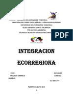 INTEGRACIÓN ECORREGIONAL