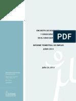 Informe Trimestal Empleo Junio 2013