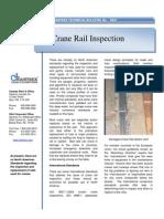 No. 47 Crane Rail Inspection