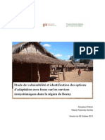 Etude de vulnérabilité et identification des options d'adaptation avec focus sur les services écosystémiques dans la région de Boeny. PGM-E, GIZ. (2013)