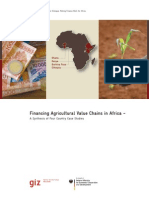 Financing Agricultural Value Chains in Africa