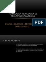 FORMULACION Y EVALUACION DE PROYECTOS DE INVERSIÓN