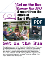 David Ward MP's Get on the Bus Summer Campaign