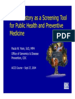 Family History as a Screening Tool (CDC)