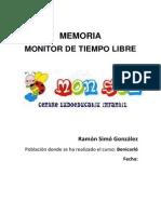 Memoria Monitor Tiempo Libre