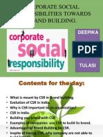 CSR Towards Brand Loyalty