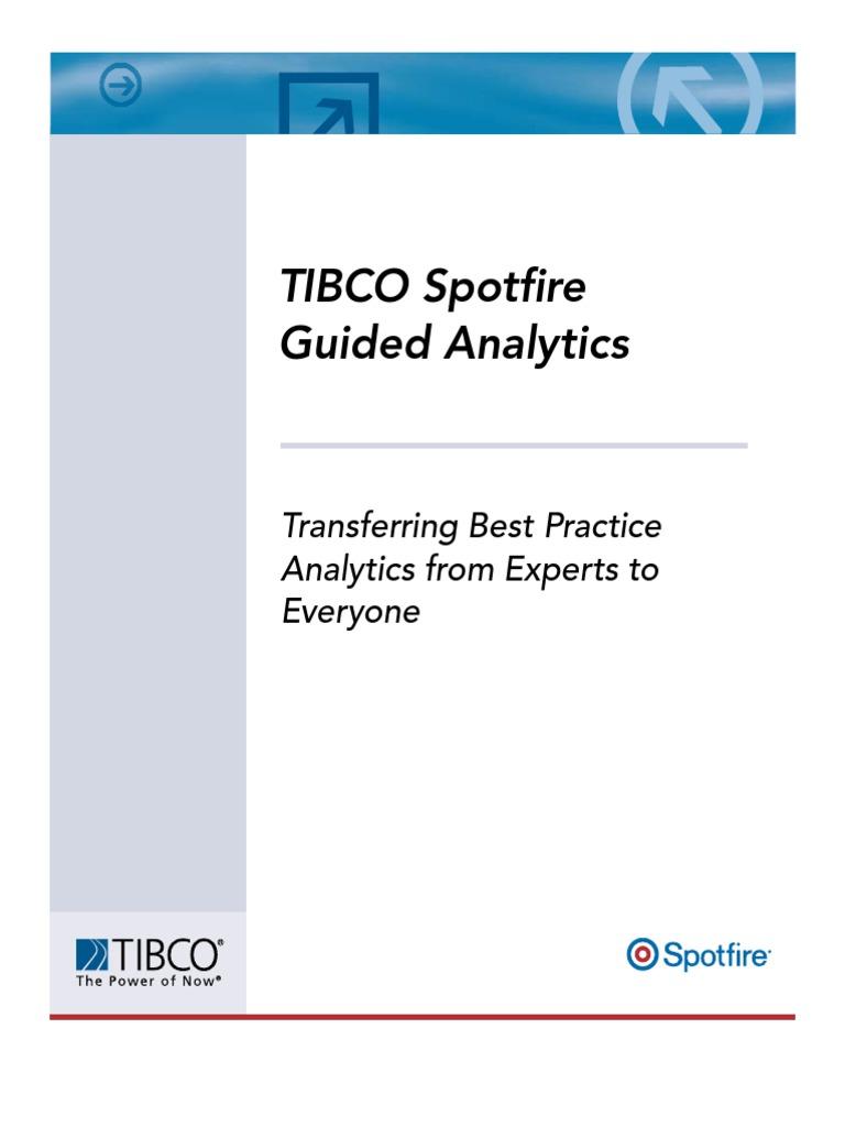 TIBCO Spotfire Guided Analytics | Analytics | Visualization
